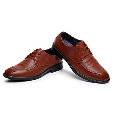 Bottom De Hombres up Zapatos Casual para Brown Single Shoes Lace Business Soft Vestir ASwqa0