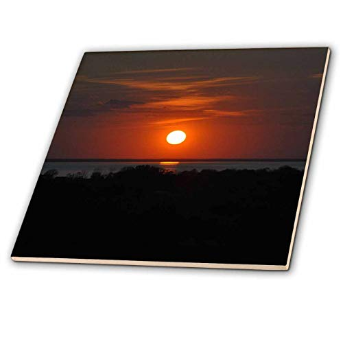 3dRose Dreamscapes by Leslie - Scenery - Door County Wisconsin Sunset Over The Bay - 12 Inch Ceramic Tile (ct_292214_4)