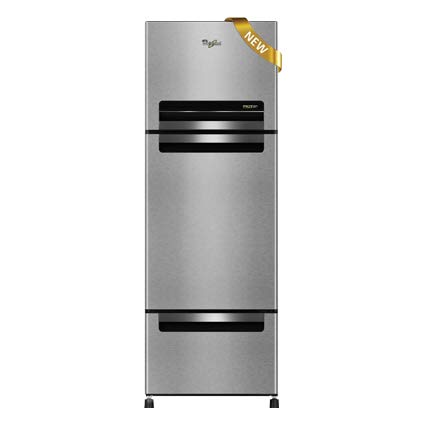 Whirlpool Fp 263D Royal Frost-free Double-door Refrigerator (240 Ltrs, Alpha Steel) Refrigerators at amazon
