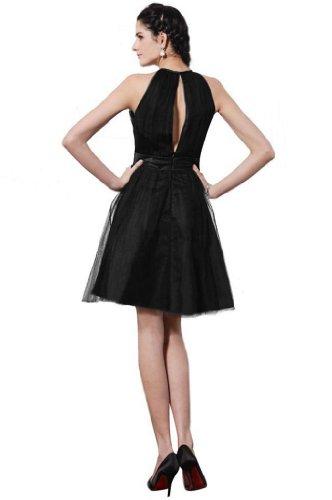 con Sunvary Tulle linea una da di fascia Black vestito corto Cocktail wC8Aaq