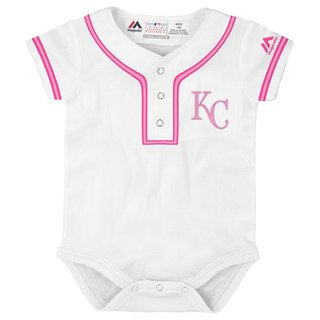 807b511fa Amazon.com   Outerstuff Kansas City Royals Girls Newborn White Pink ...