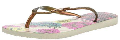 Havaianas Flip Flops Slim Tropical Zehentrener für Frauen Beige