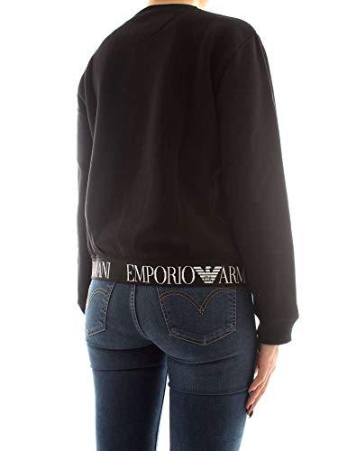 Size 44 Black 6z2m61 In Misto Armani Emporio Cotone Felpa Negro q6Y0x8U