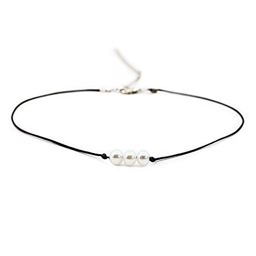 Womens Imitation Pearl - Boosic 3 Imitation Pearl Cord Necklace for Women, 13