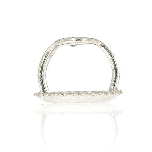 14k White Gold Threaded Post Replacement Earring Screw Backs (1 Pair)