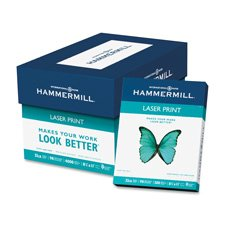 Laser Print Paper, 32 lb, 98 GE, 8-1/2''x11'', 500/RM, WE, Sold as 1 Ream, 500 Each per Ream by Hammermill
