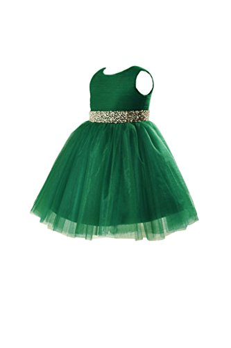 31nkS2ixBaL buy the best video games- Vienna Bride Lovely Baby Girls' Tulle Flower Girl Dress for Wedding Pageant-child 2-Dark Green