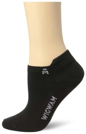 Wigwam Women's Ironman Lightning Pro Low Cut Ultimax Running Sock, Black, Medium