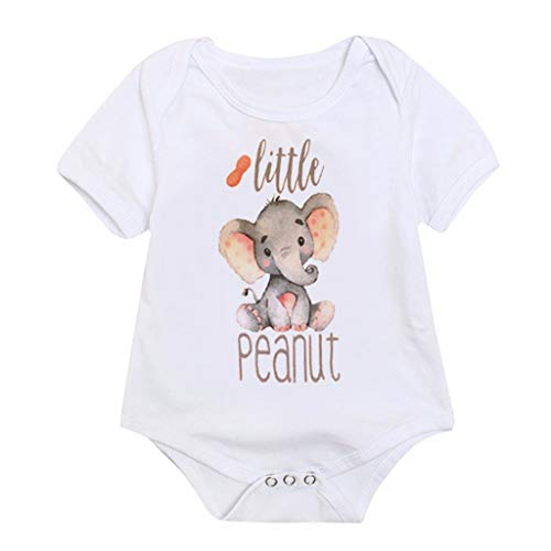 RAINED-Baby Boy/Girl Bodysuit Unisex Organic Baby Jumpsuit Short Sleeve Tops One Piece Outfits White