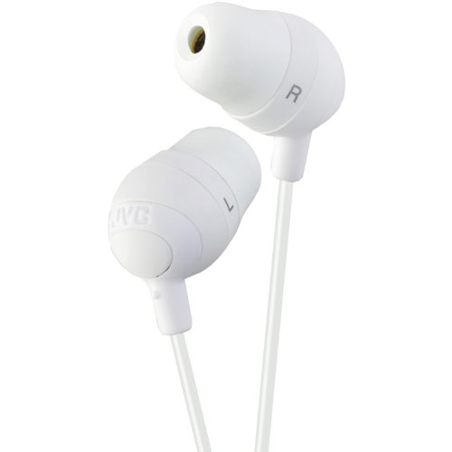 Marshmallow Headphone (JVC HAFX32W Marshmallow Earbuds, White)