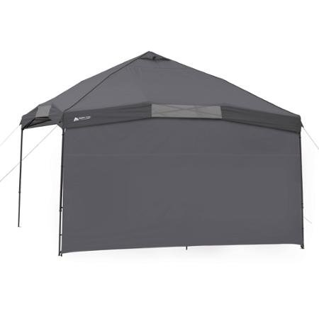 12' x 12' Instant Canopy Sun Wall, Provides 50+ UV Protection, Heavy-duty 150D Polyester Fabric Sun Wall- Includes 1 sunwall, tent stake, and carry bag