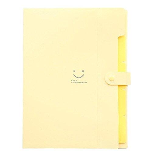 Ya Jin Cara Sonriente 5bolsillos ampliable soporte de acordeón Archivo Documento Carpeta, tamaño A4y carta, Beige