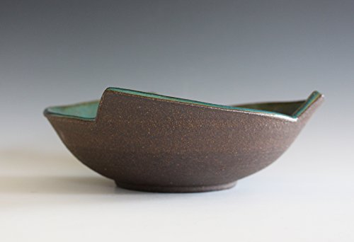 Thrown Stoneware Bowl (Handmade Ceramic Bowl, pottery bowl, wheel thrown bowl, stoneware bowl, ceramic serving bowl)
