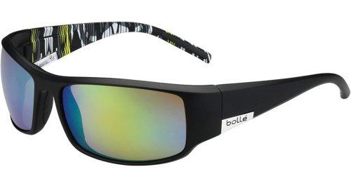 Bolle Sport Lifestyle King Sunglasses Frame 11786 Matte Black/lime Zebra - King Bolle