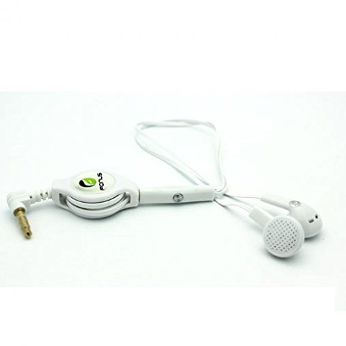 Retractable Headset Handsfree Mic Dual Earbuds Earphones Wir