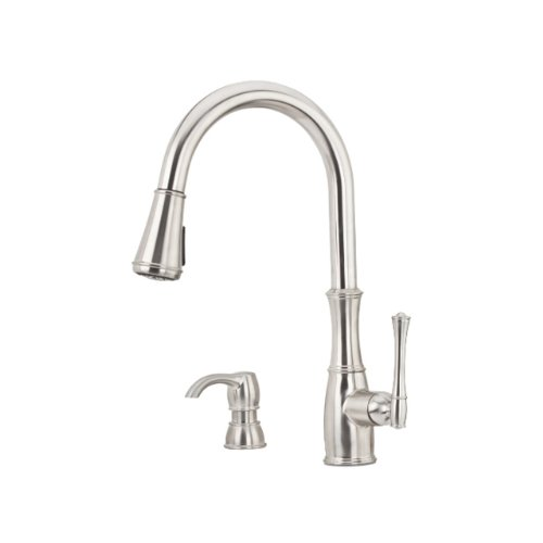 pfister-gt529-whs-wheaton-single-handle-pull-down-kitchen-faucet-with-soap-dispenser-stainless-steel