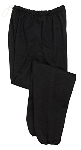 Jerzees 9 Oz Sweatpant w Pockets (4850MP) Super Sweats Available In 8 Colors - Black 4850MP X-Large ()
