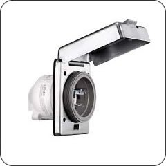 (HUBBELL HBL316SSX AC Inlet IEC60309 16a 230v Male Stainless Steel Marine)
