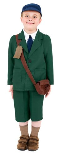 World War 1 Children's Costumes (Smiffy's World War Ii Evacuee Boy Costume, Coat, Trousers, Hat And Bag, Ages)
