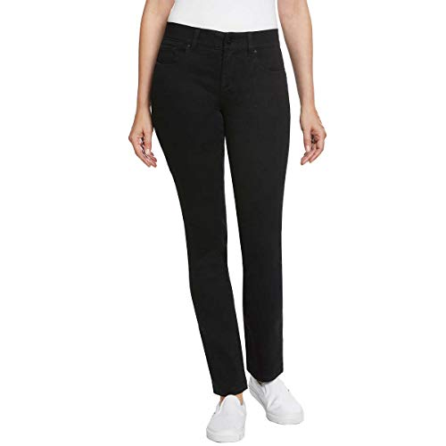 Jones New York Ladies Comfort Waist Jean (12, Black)