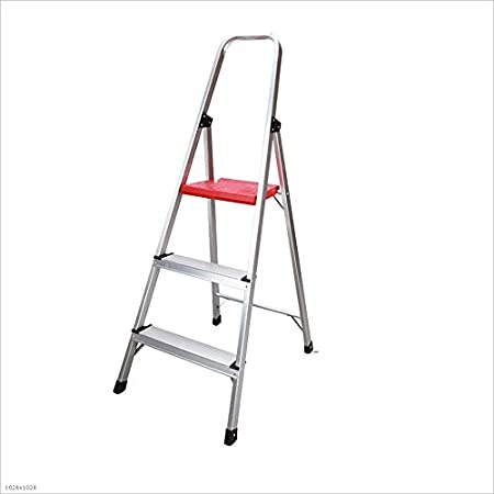Love lamp Escaleras Plegables Escalera multifunción de Tres escalones Barandilla Plegable de Aluminio Escalera Plegable Antideslizante Espesamiento Pedal Ancho Escaleras Telescópicas: Amazon.es: Hogar