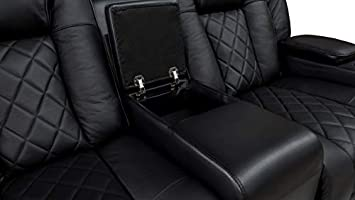 Amazon.com: Valencia Oxford Leather Black Power Recliner ...