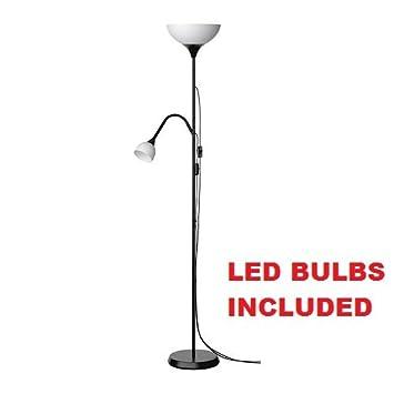 2 Bulb Floor Lamp: Ikea Not Floor Lamp Reading LED Light (Bulbs Included) Adjustable Spotlight  Arm (With,Lighting