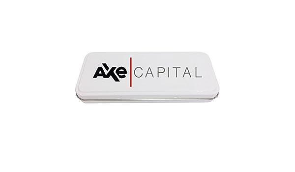 Axe Capital - Estuche de papelería personalizable, color blanco, para añadir un nombre, ideal para regalos de espectáculos de televisión (obby Axelrod, Chuck Rhodes): Amazon.es: Oficina y papelería