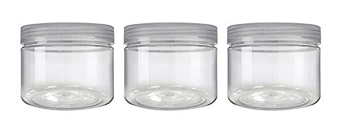 (Silicook Clear Plastic Jar, Set of 3 - Round Shaped, Transparent, Food Storage Container, Kitchen & Household Organization for Dry goods, Pasta, Spices and More (XS))