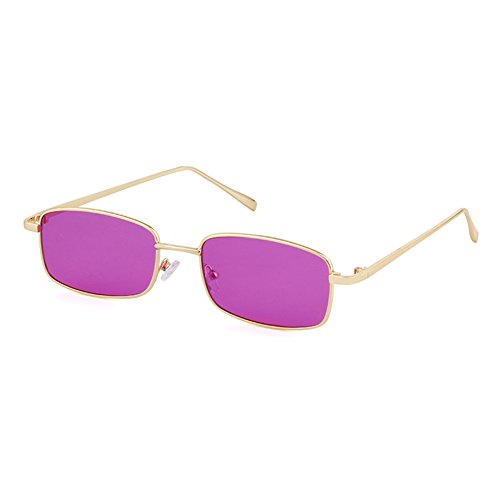 Vintage Steampunk Sunglasses Fashion Metal Frame Clear Lens Shades for Women (purple, - Shade No Sunglasses