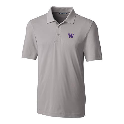 Cutter & Buck NCAA Washington Huskies Short Sleeve Solid Forge Polo, X-Large, Polished -