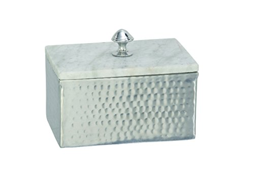 Cheap Deco 79 49685 Aluminium Marble Rectangle Box, 7″ by 6″