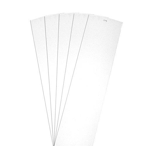 DALIX Sand Vertical Blinds Slats Premium Curved White 82.5