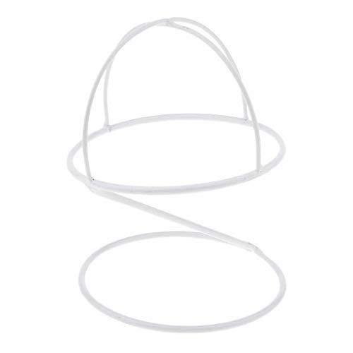 Fityle Freestanding Wire Ball Hat Stand/Hat Rack/Wig Holder Storage Display Stand, (Black,White,Bronze, 6.3inch) - White