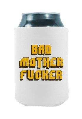 Bad Mother Fucker | Funny Novelty Can Cooler Coolie Huggie - Set of two (2) | Beer Beverage Holder - Beer Gifts Home - Quality Neoprene No Fade Can Cooler -