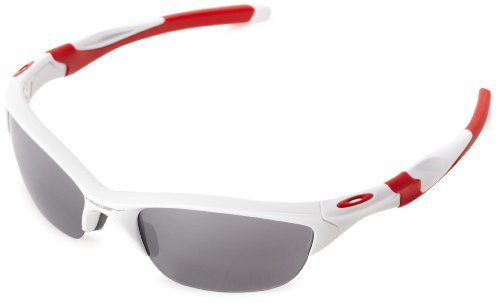 Oakley Half Jacket 2.0 XL OO9154-23 Iridium Sport Sunglasses,Polished White,55 - Sunglasses Oakley Green And White