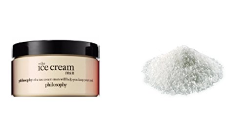 - Philosophy glazed body souffle Creme The Ice Cream Man 4 oz and a pack of Vanilla Scented Bath Salt