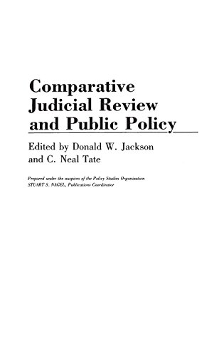 Comparative Judicial Review and Public Policy: (Contributions in Political Science)