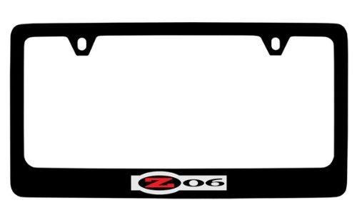 Chevrolet Corvette C5 Z06 Black Coated Metal License Plate Frame Holder