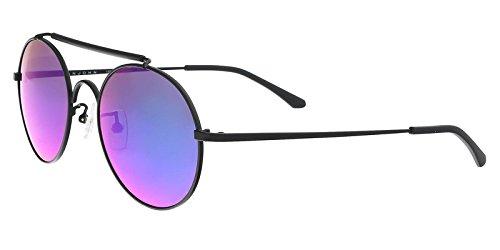 (Sean John SJ859S 001 Black Round Sunglasses)