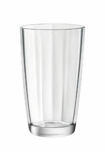 Glass Rocco Highball Bormioli Glass - Bormioli Rocco Pulsar Cooler Glasses, Clear, Set of 6