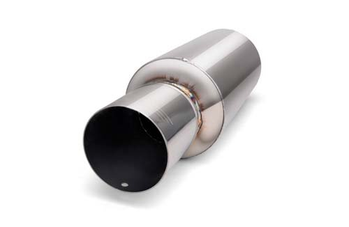 Buddy Club BC03-PSUNI300-S Pro Spec Silver 3.0'' Universal Muffler by Buddy Club (Image #1)