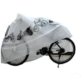 KLOUD City White Polyester Waterproof Bike Bicycle Cover