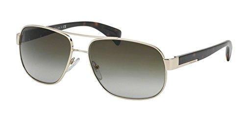 Prada Sunglasses - PR52PS / Frame: Pale Gold Lens: Grey Gradient - Prada Rectangle Sunglasses