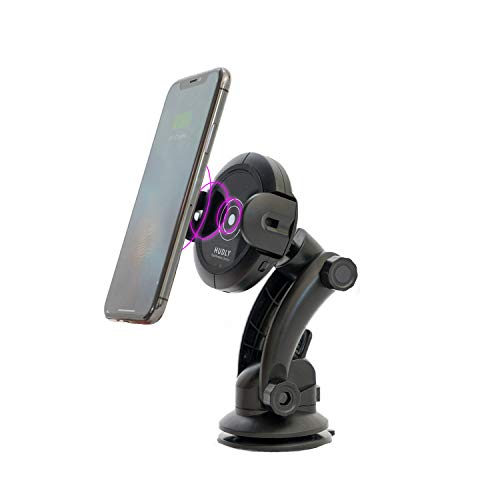 (Hudly Fast 10W Wireless Charger Car Mount with Robotic Arms. Compatible with All Qi Enabled Smartphones: iPhone, Samsung Galaxy, etc. Mounts on Vent, Dashboard, or Windshield. (10W))