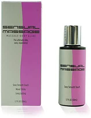 Sensual Massage, 2-in-1 Massage Gel and Personal Lubricant, Massage Gels for Couples, Daily Moisturizer - Ocean Sensuals (1.7 fl oz)
