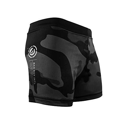 Bad Boy Delta Force Polyester Competition MMA Mixed Martial Arts Vale Tudo Shorts (Grey - Medium)