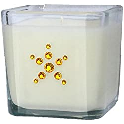 YR Soy Candles Hand Decorated Scented Soy Candle with Gold Pull-Bow, Banana Nut Bread