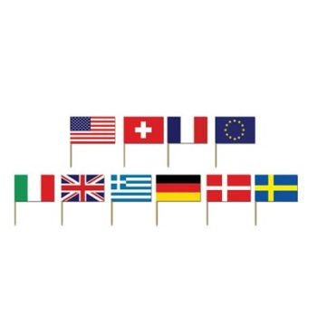 50 International Flag Picks - Party Accessory