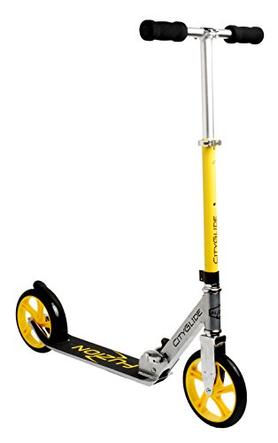 Fuzion-Cityglide-Adult-Kick-Scooter-220lb-Weight-Limit-Folds-Down-Adjustable-Handle-Bars-Smooth-Fast-Ride